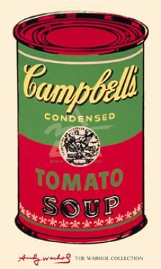 Campbell`s Soup Can, 1965 (green & red)
