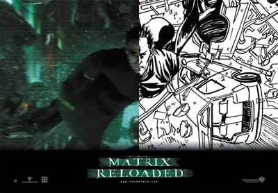 Matrix Reloaded - Neo Collage