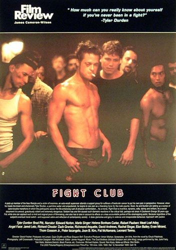 a review of consumerism in fight club a film by david flincher (note: this entry is intended for readers who have seen fight club others are advised to see it first—and why haven't you already—and come back later.