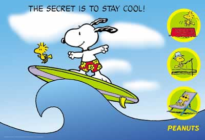Snoopy & Woodstock - Surfing (the secret is to stay cool)