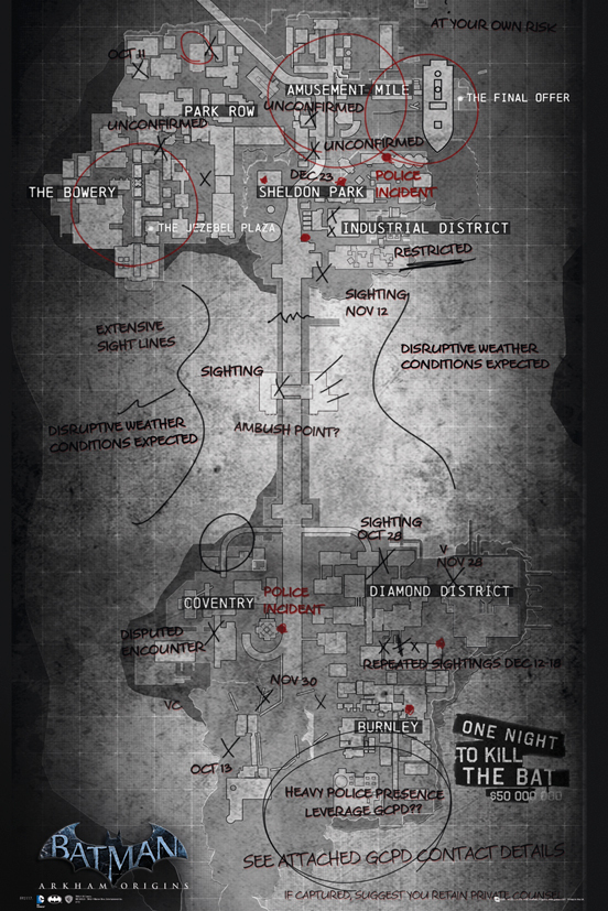 Batman Arkham Origins - Map
